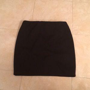Fashion nova ribbed black mini skirt